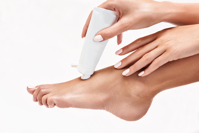 pedicure kit with cream